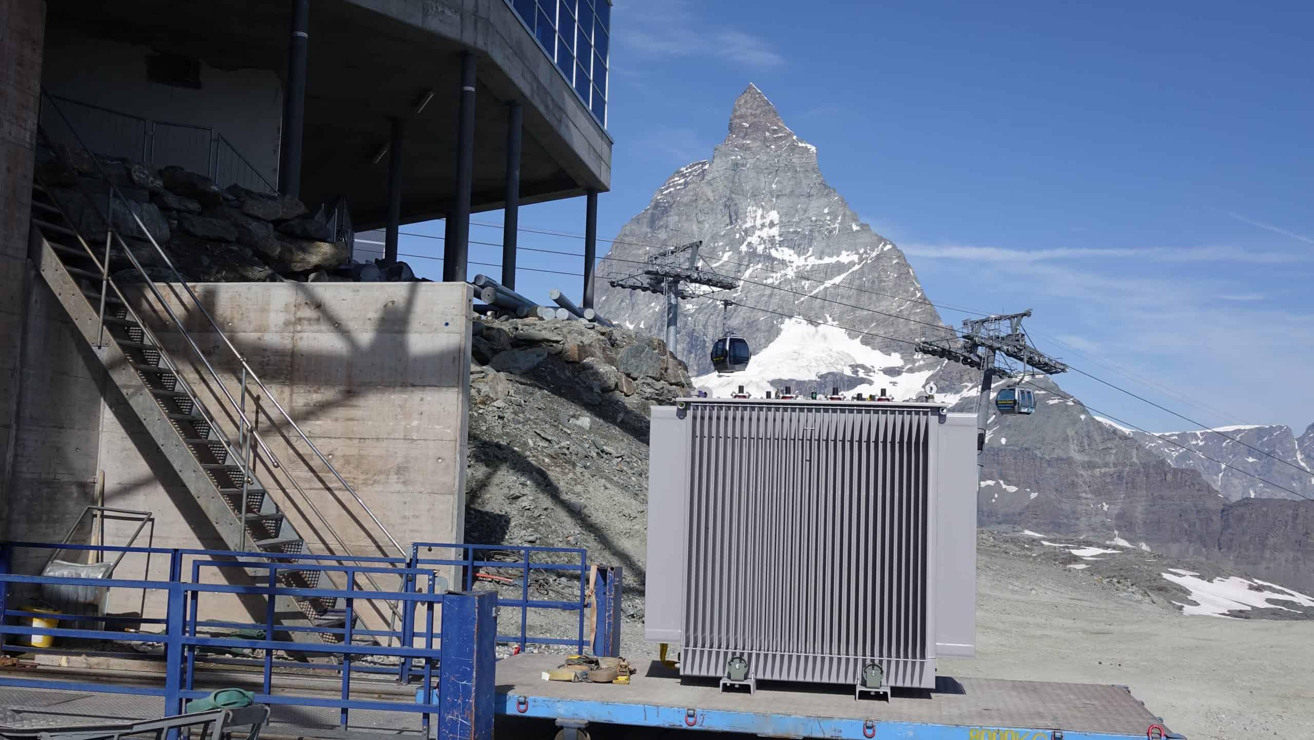 Transformer installation Matterhorn region Switzerland