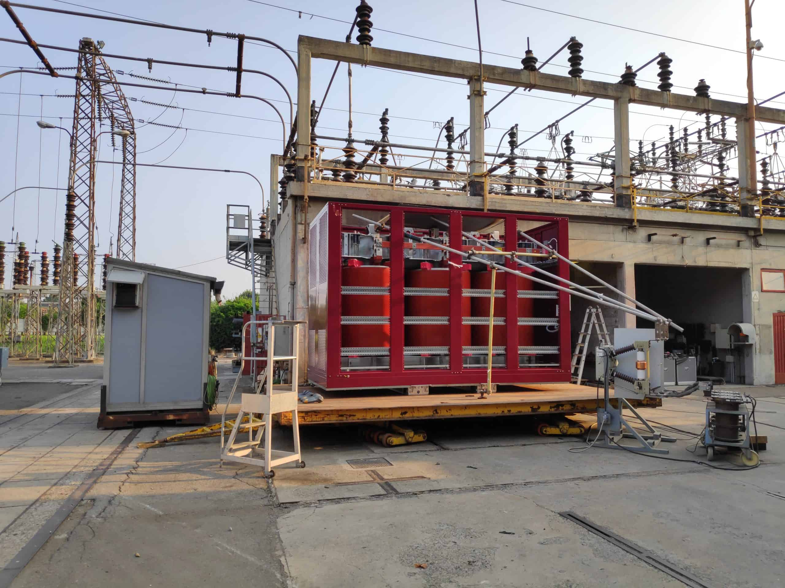 Dry type transformer in box