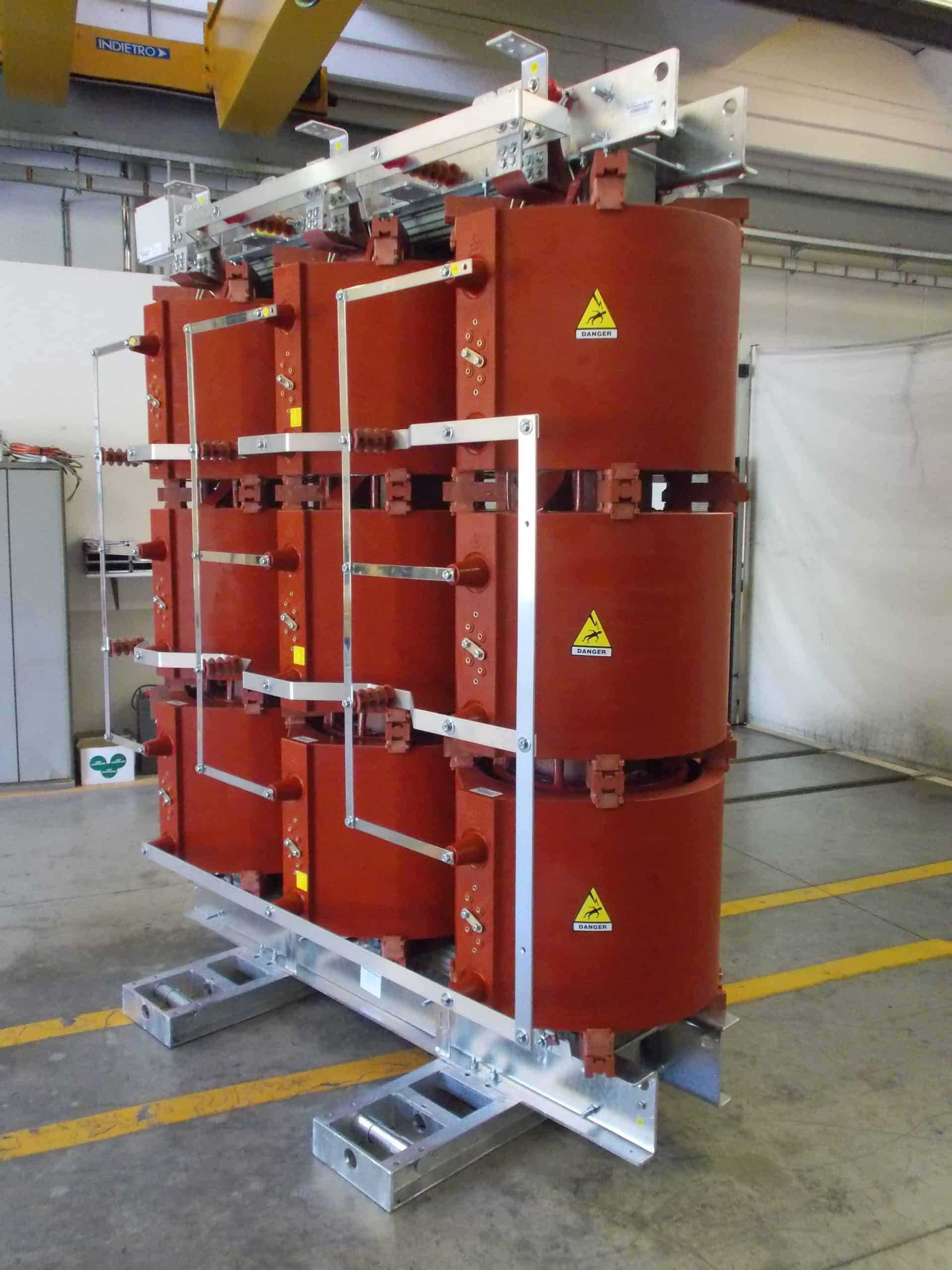 Dry type transformers at Tesar factory