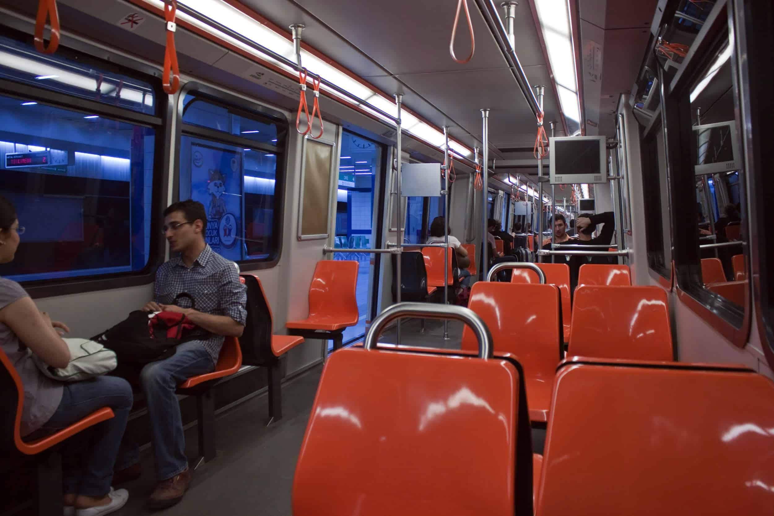 Inside of Hamburger Hochbahn