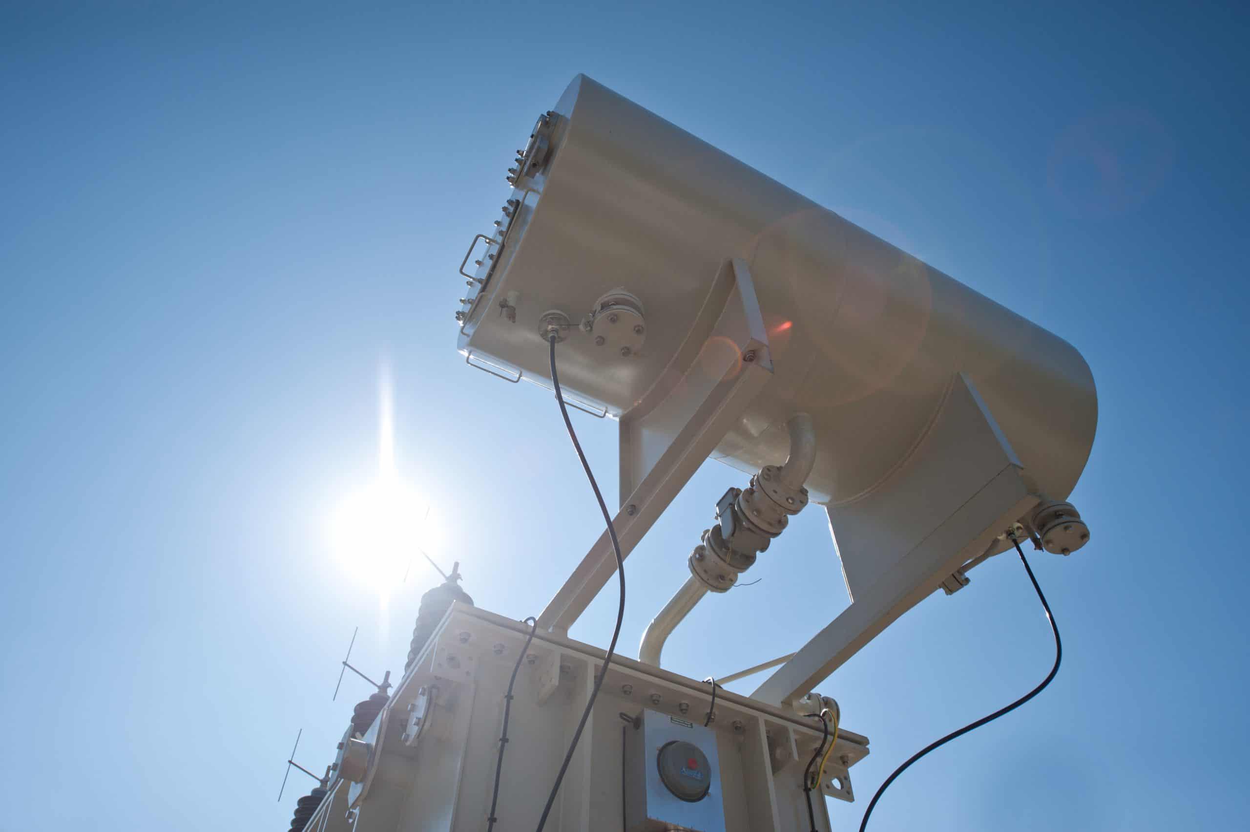 Power transformer expansion tank