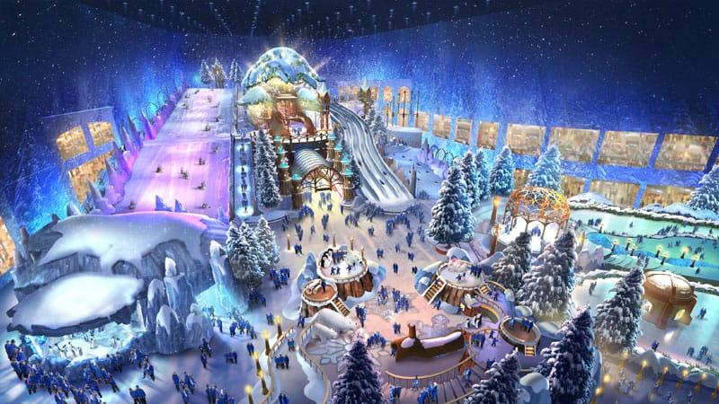 Reem mall in Abu Dhabi Snowpark