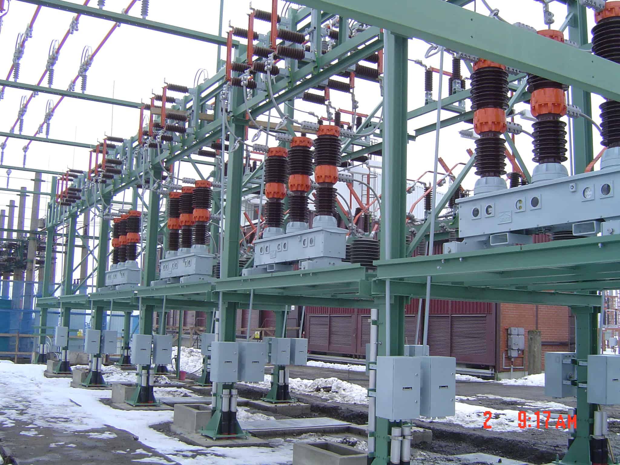Substation in winter