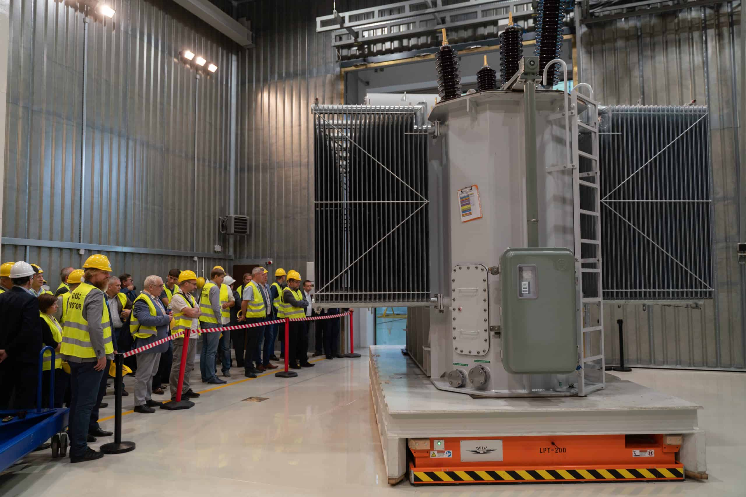 Testing station power transformers at ZREW factory